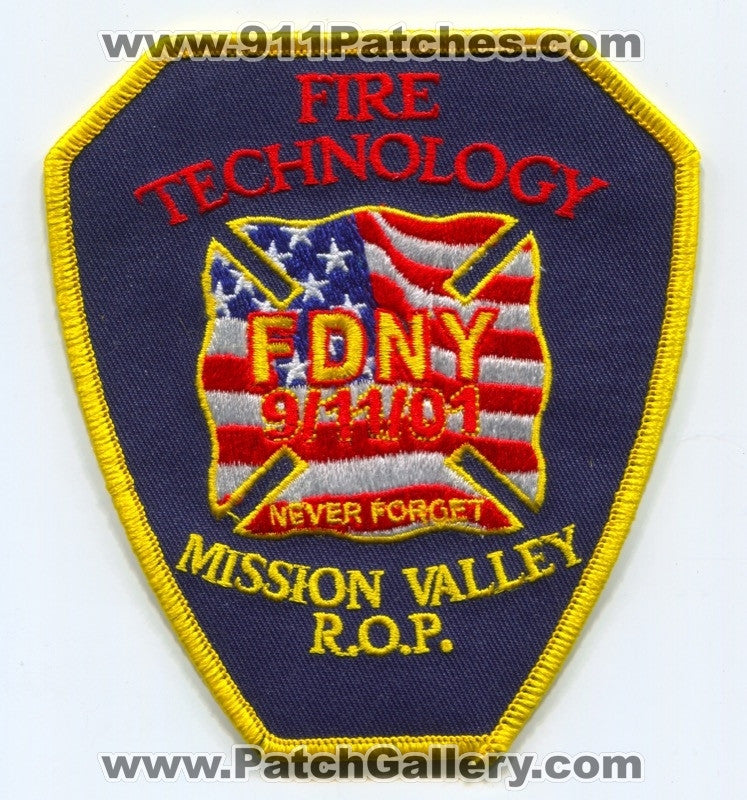 Mission Valley Regional Occupational Program ROP Fire Technology Patch California CA