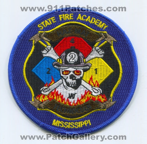 Mississippi State Fire Academy Haz-Mat Technician Patch Mississippi MS