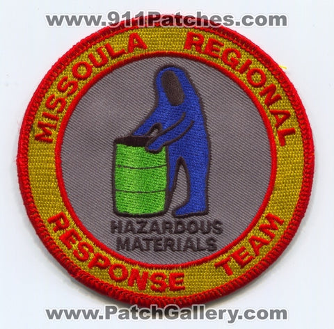 Missoula Regional Response Team Hazardous Materials Patch Montana MT
