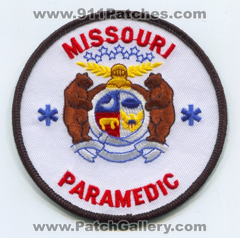 Missouri State Paramedic EMS Patch Missouri MO