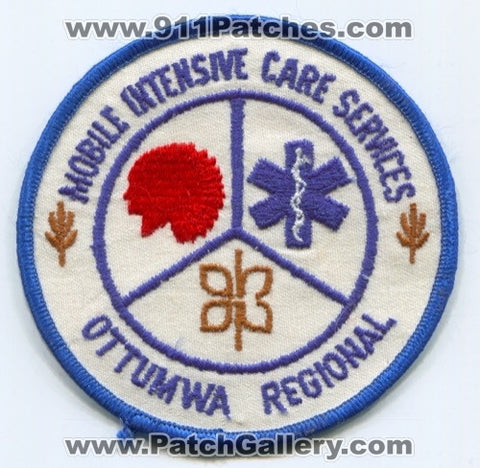 Mobile Intensive Care Services Ottumwa Regional EMS Patch Iowa IA