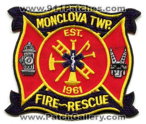 Monclova Township Fire Rescue Department Patch Ohio OH