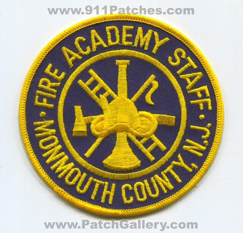 Monmouth County Fire Academy Staff Patch New Jersey NJ