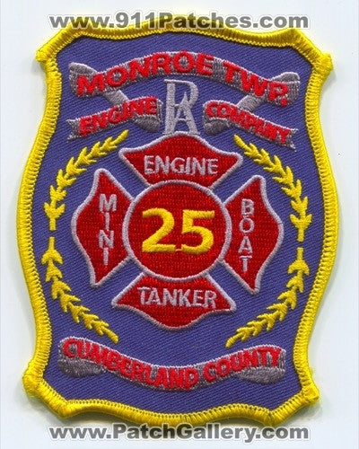Monroe Township Fire Department Company 25 Patch Pennsylvania PA