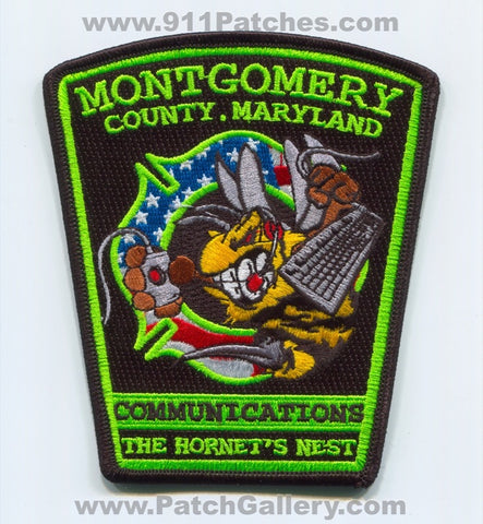 Montgomery County Fire and Rescue Service 911 Communications Patch Maryland MD