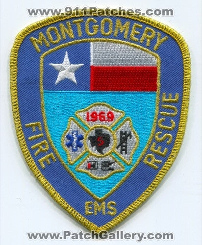 Montgomery Fire Rescue Department Patch Texas TX