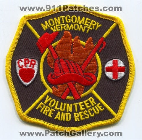 Montgomery Volunteer Fire and Rescue Department Patch Vermont VT