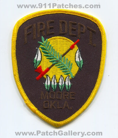 Moore Fire Department Patch Oklahoma OK