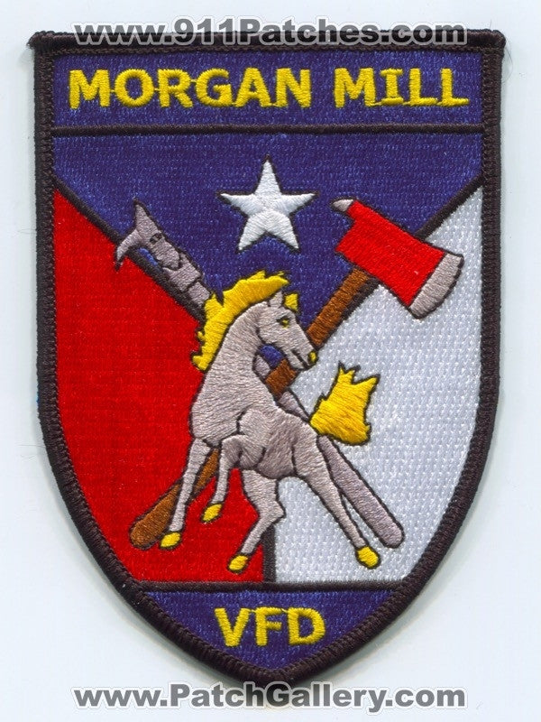 Morgan Mill Volunteer Fire Department Patch Texas TX