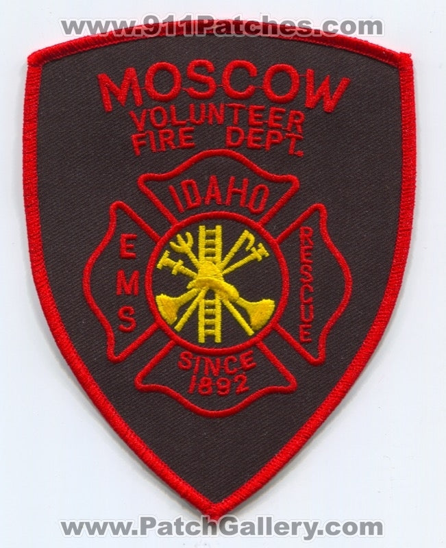 Moscow Volunteer Fire Department Patch Idaho ID