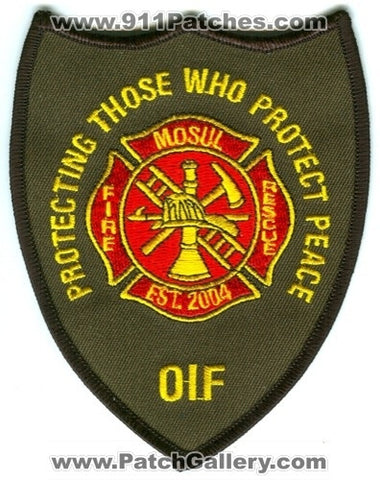 Iraq - Mosul Fire Rescue Department Military Patch