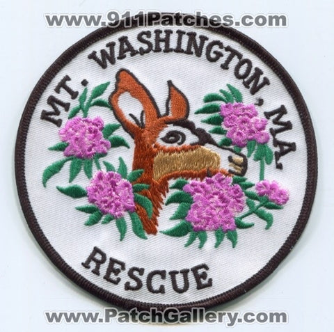 Mount Washington Rescue Patch Massachusetts MA