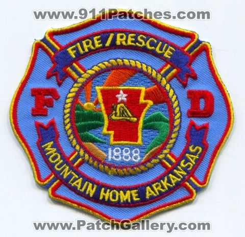 Mountain Home Fire Rescue Department Patch Arkansas AR