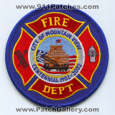 Mountain View Fire Department Patch California CA