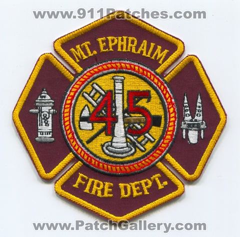 Mount Ephraim Fire Department 45 Patch New Jersey NJ
