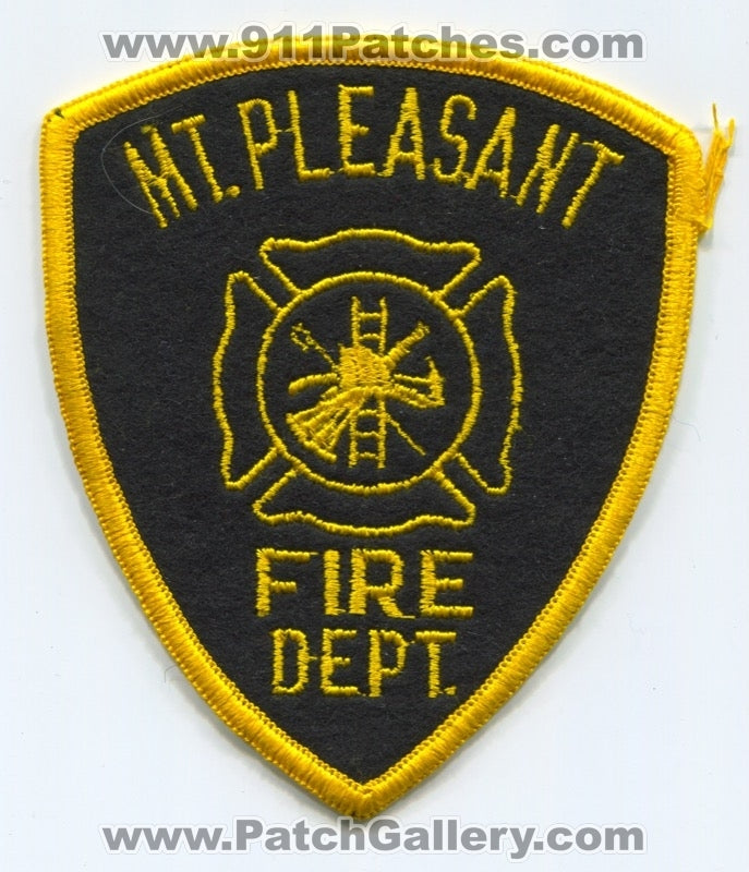 Mount Pleasant Fire Department Patch North Carolina NC