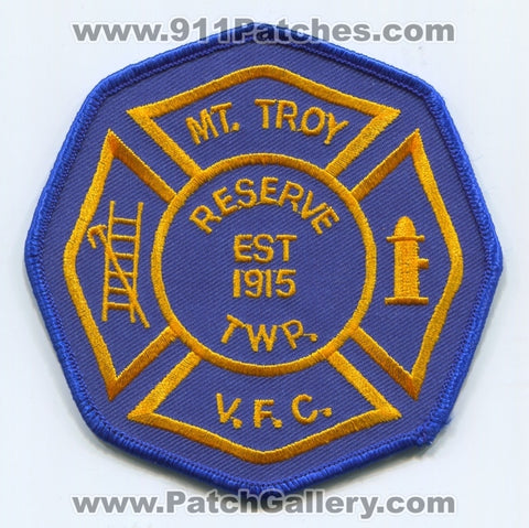 Mount Troy Volunteer Fire Company Patch Pennsylvania PA