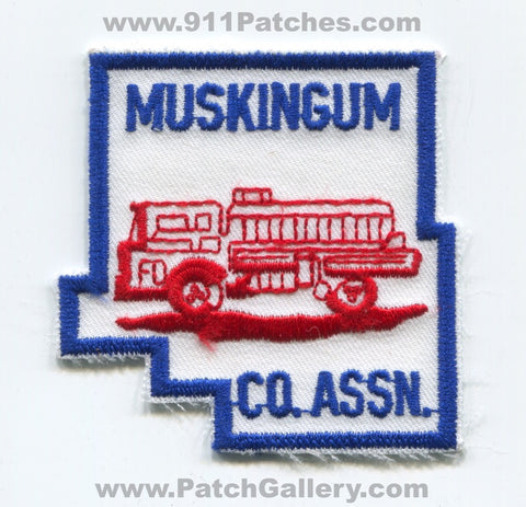 Muskingum County Fire Association Patch Ohio OH