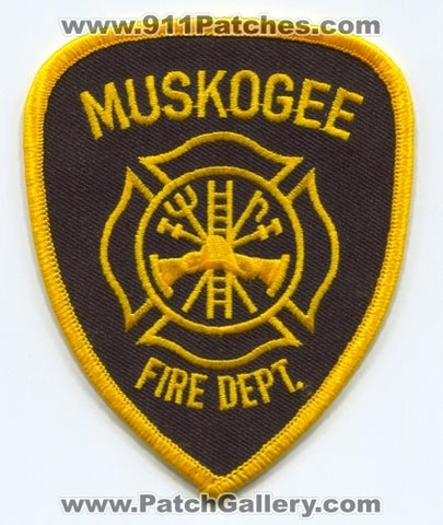 Muskogee Fire Department Patch Oklahoma OK