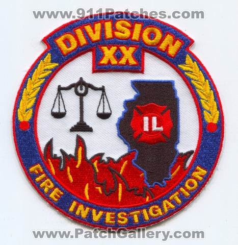 Mutual Aid Box Alarm Systems MABAS Division 20 Fire Investigation Patch Illinois IL