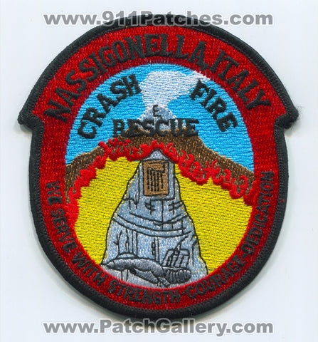 Italy - Naval Air Station NAS Sigonella Crash Fire Rescue CFR Department USN Navy Military Patch
