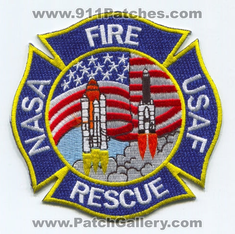 NASA USAF Fire Rescue Department Military Patch Florida FL