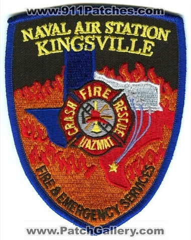 Naval Air Station NAS Kingsville Fire and Emergency Services USN Navy Military Patch Texas TX