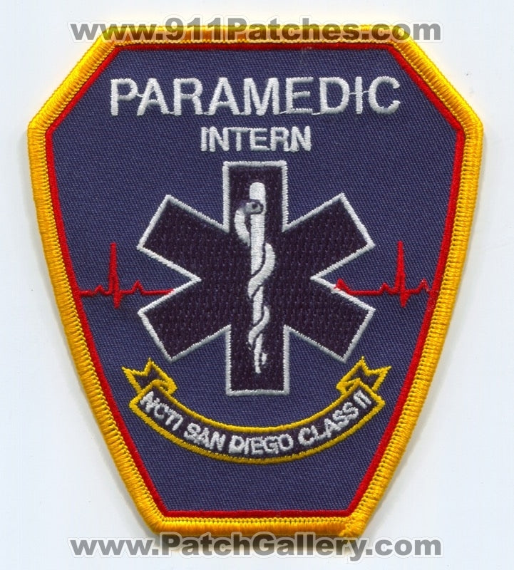 NCTI San Diego Paramedic School Intern Class II EMS Patch California CA