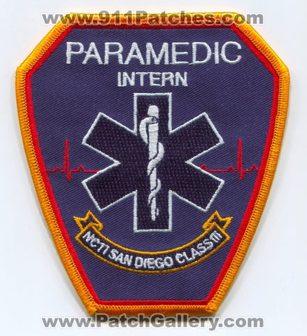 NCTI San Diego Paramedic School Intern Class III EMS Patch California CA