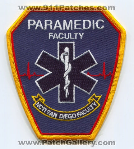 NCTI San Diego Paramedic School Faculty EMS Patch California CA