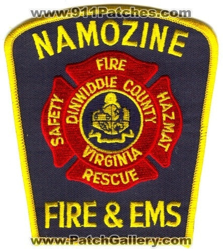 Namozine Fire and EMS Department Patch Virginia VA