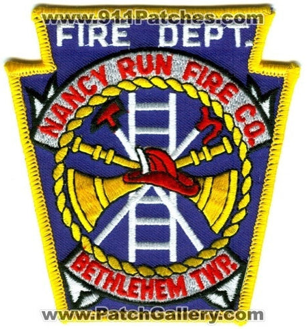 Nancy Run Fire Company Department Patch Pennsylvania PA