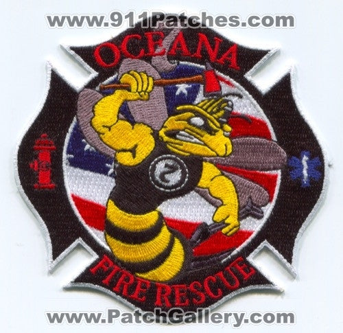 Naval Air Station NAS Oceana Fire Rescue Department 7 Patch Virginia VA
