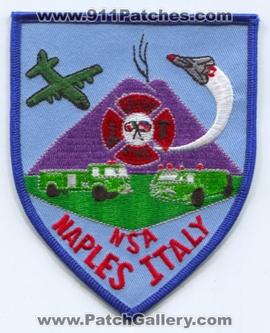 Italy - Naval Support Activity NSA Naples Crash Fire Rescue CFR Department Patch