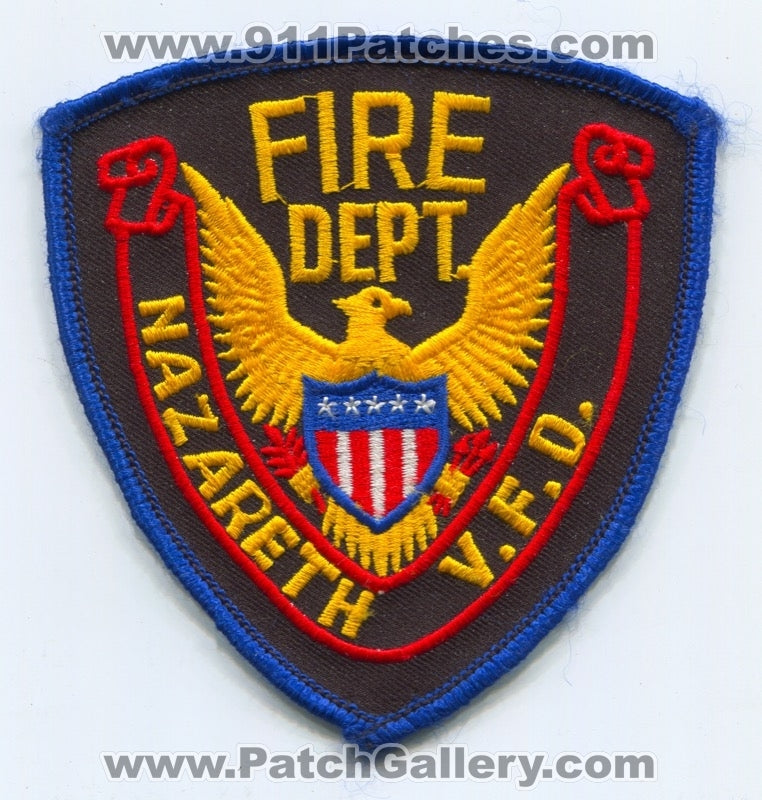 Nazareth Volunteer Fire Department Patch Unknown State
