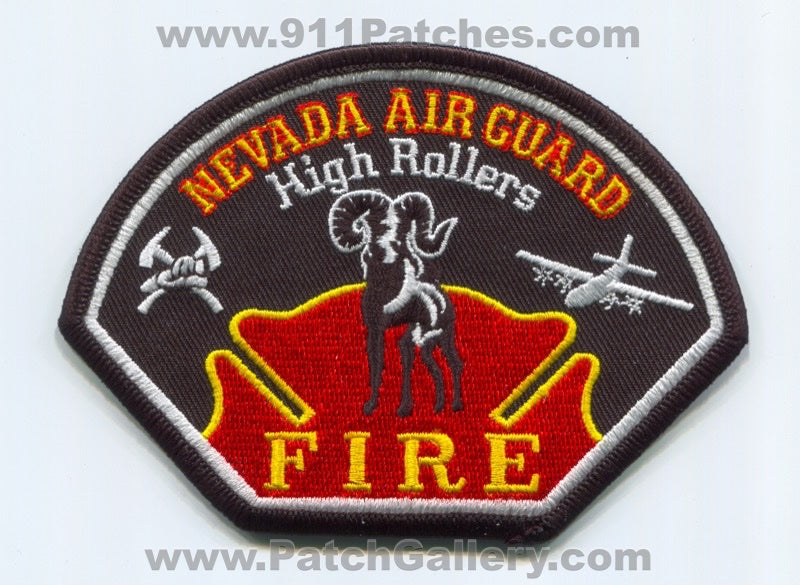 Nevada Air National Guard ANG Fire Department USAF Military Patch Nevada NV