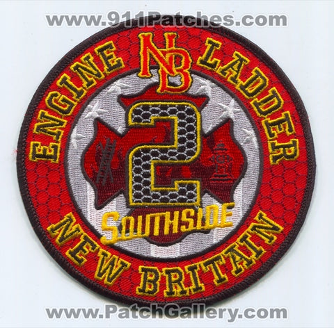 New Britain Fire Department Station 2 Patch Connecticut CT