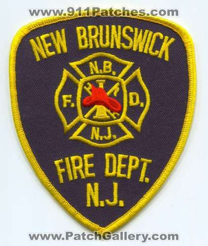 New Brunswick Fire Department Patch New Jersey NJ