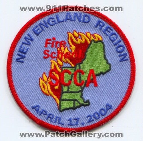 New England Region Fire School SCCA Patch Unknown State