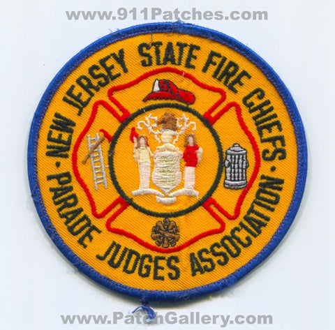 New Jersey State Fire Chiefs Parade Judges Association Patch New Jersey NJ