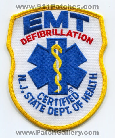 New Jersey State EMT Defibrillation EMS Patch New Jersey NJ