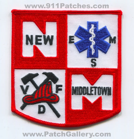 New Middletown Volunteer Fire Department EMS Patch Ohio OH
