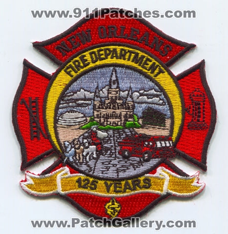 New Orleans Fire Department 125 Years Patch Louisiana LA