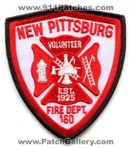 New Pittsburg Volunteer Fire Department 160 Patch Ohio OH
