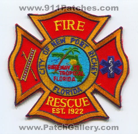 New Port Richey Fire Rescue Department Patch Florida FL