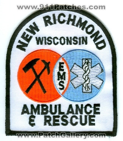 New Richmond Ambulance and Rescue EMS Patch Wisconsin WI