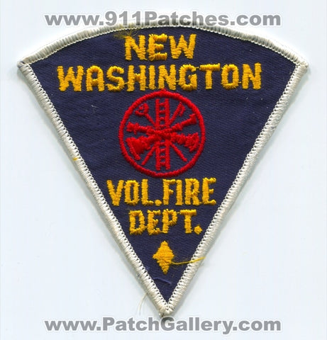 New Washington Volunteer Fire Department Patch Indiana IN