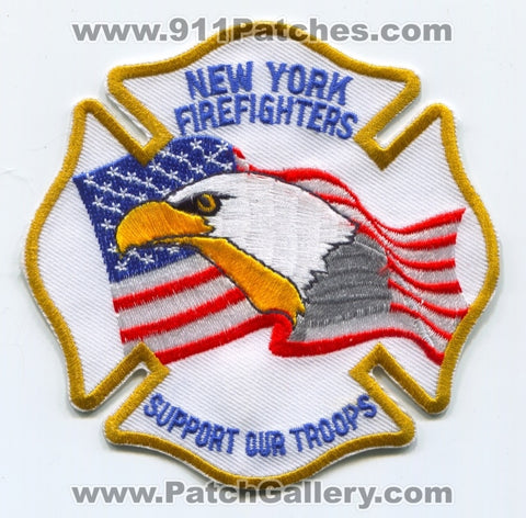 New York Firefighters Support Our Troops Patch New York NY