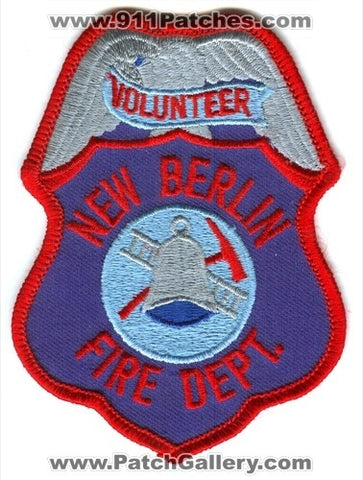 New Berlin Volunteer Fire Department Patch Wisconsin WI