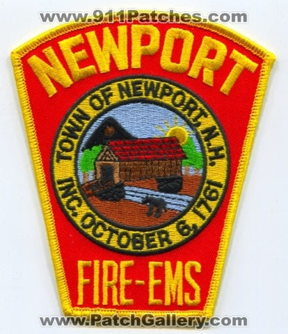 Newport Fire EMS Department Patch New Hampshire NH